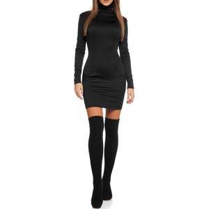 Dresses & Skirts -  Long Sleeve Turtleneck Dress